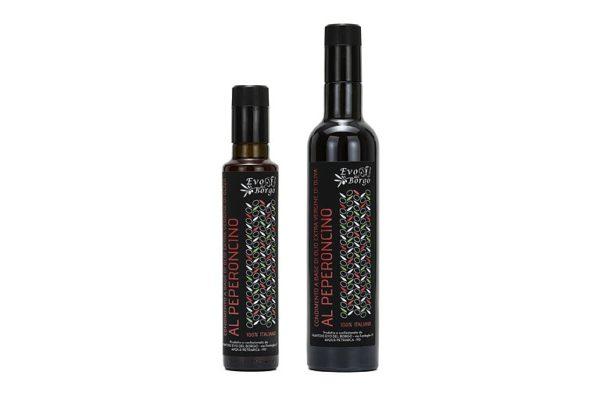 Olio Extravergine di oliva al peperoncino, diversi formati