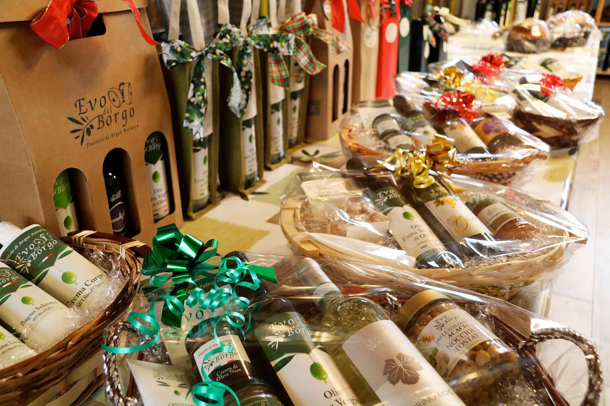 ceste natalizie per aziende e parenti con prodotti tipici dei colli euganei